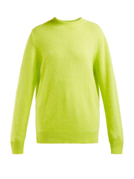 The Elder Statesman - Round Neck Cashmere Sweater - Womens - Yellow