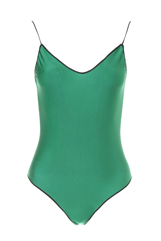 Oseree Swimsuit With Lace in green