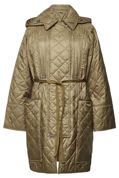Burberry Quilted Coat  in green