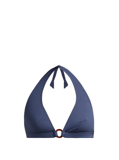 Max Mara Beachwear - Genarc Bikini Top - Womens - Blue