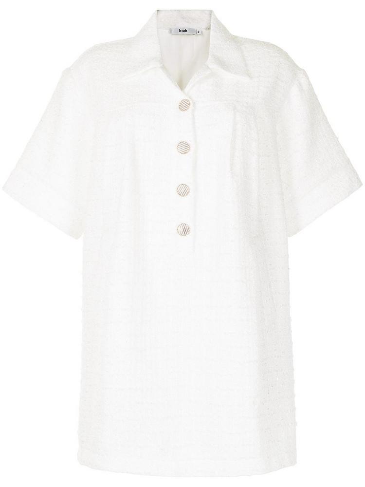 b+ab b+ab tweed shirt dress - White