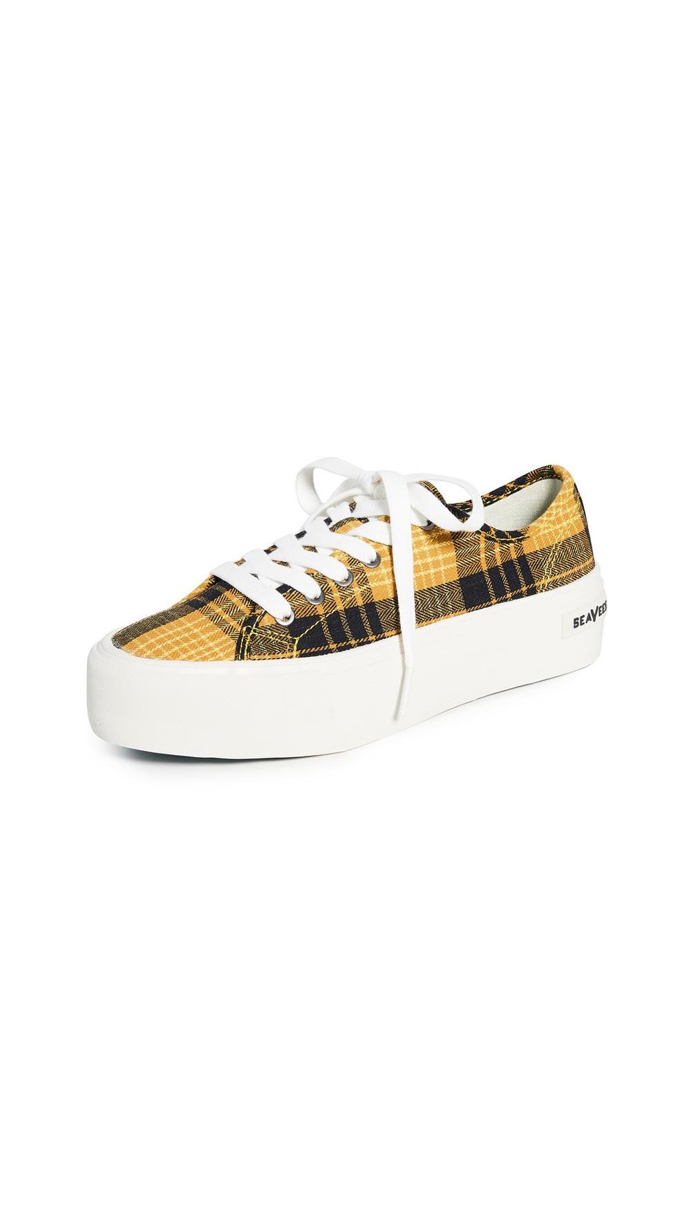 SeaVees Monterey Platform Sun Valley Sneakers in yellow