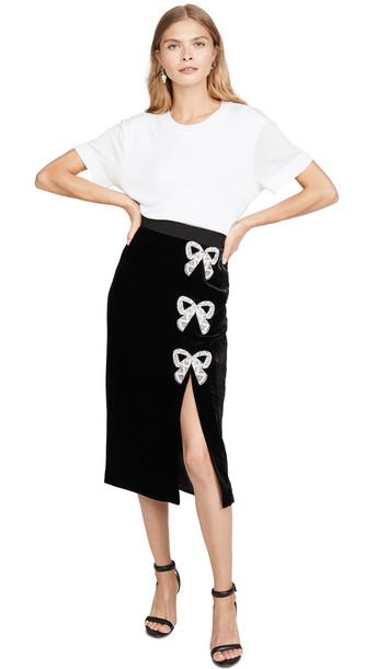 Saloni Kirsten Bows Skirt in black