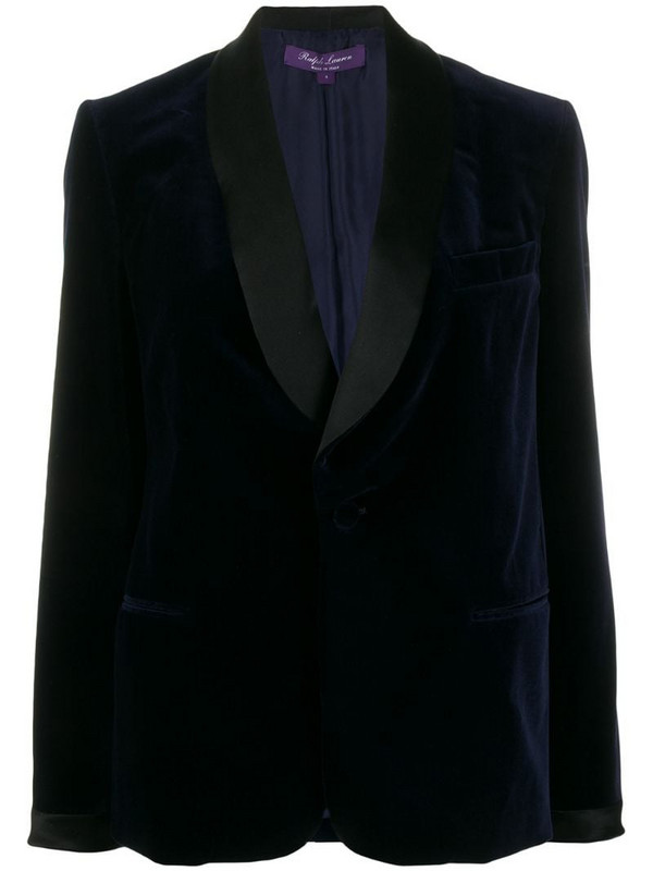 Ralph Lauren Collection contrast single-breasted blazer in blue