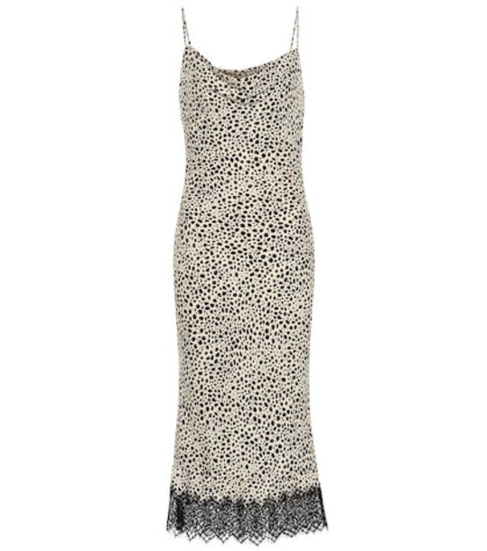 Rebecca Vallance Anya crêpe slip dress in beige