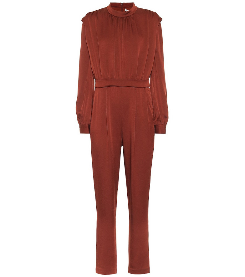 Veronica Beard Kavia satin crêpe jumpsuit in red