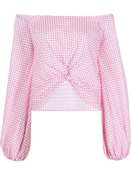 Caroline Constas Maddie drop-shoulder blouse - Pink