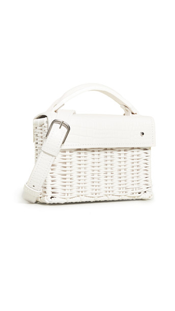 Wicker Wings Mini Kuai Bag in white