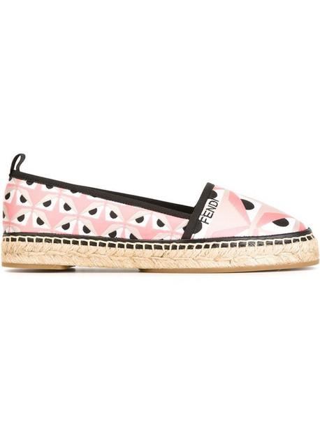 shoes pink shoes designer spring accessory espadrilles fendi