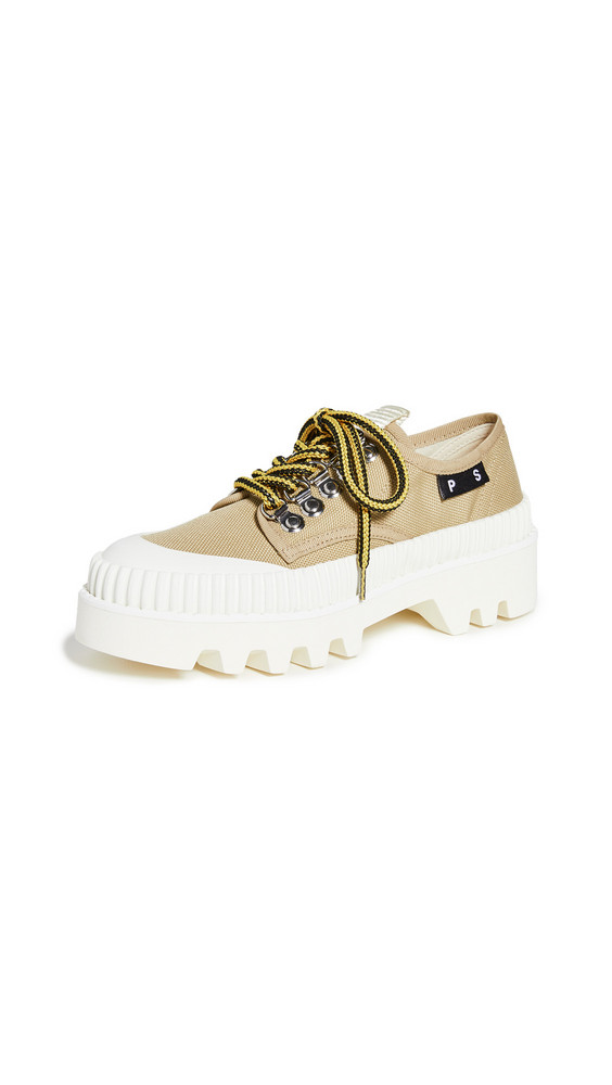 Proenza Schouler Track Sole Sneakers in white / beige