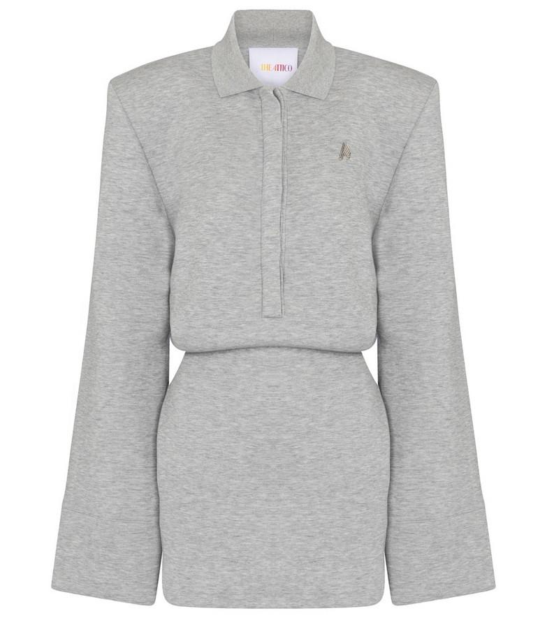The Attico Cotton-blend jersey minidress in grey