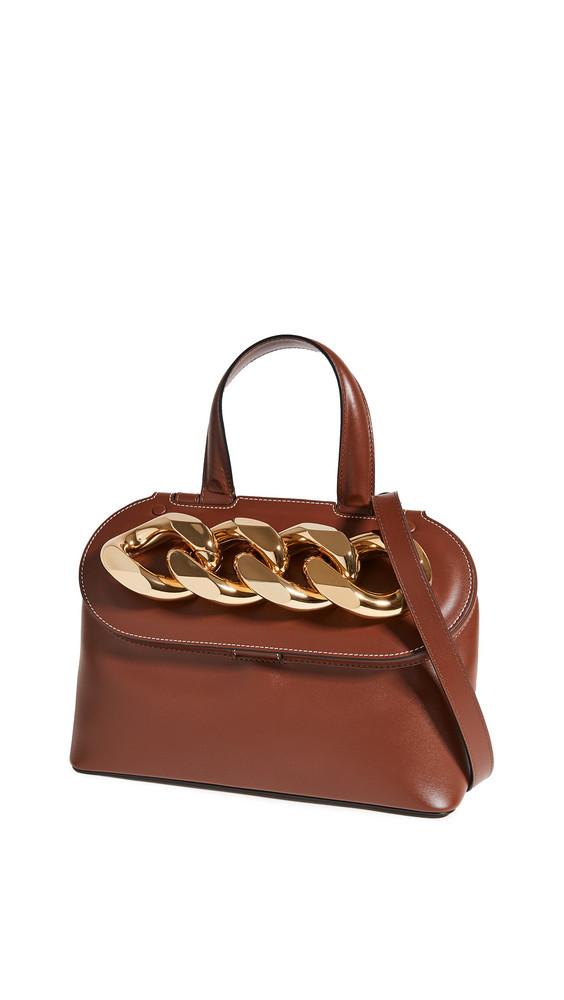 JW Anderson Lid Chain Bag in brown