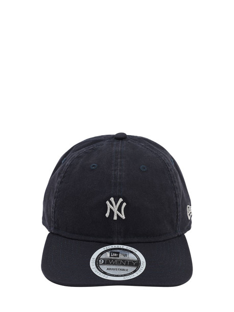 NEW ERA Team Packable Cotton Canvas Baseball Hat in navy