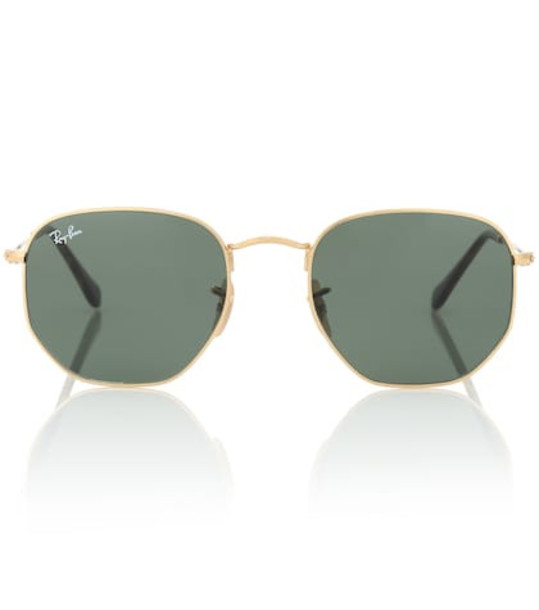 Ray-Ban RB3548N Hexagonal Flat sunglasses in gold