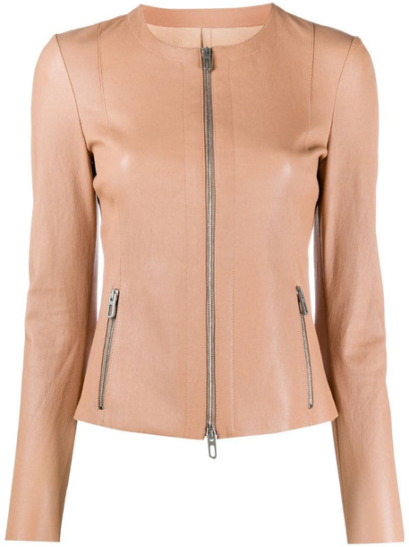 Drome fitted zip-up jacket in neutrals