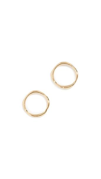 Gorjana Quinn Delicate Stud Earrings in gold / yellow