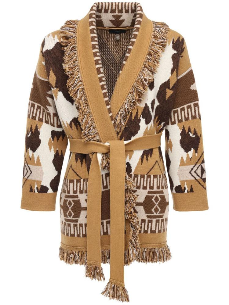 ALANUI Intarsia Knit Wool & Cashmere Jacket