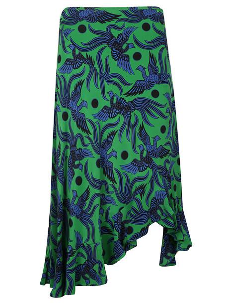 Kenzo Ruffled Bird Skirt