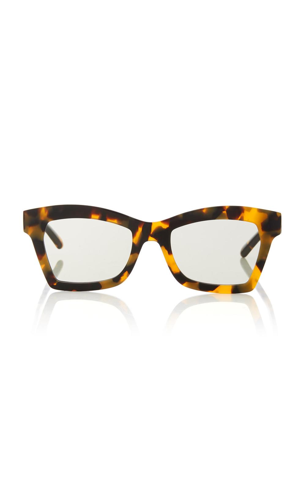 Karen Walker Blessed Square-Frame Tortoiseshell Acetate Sunglasses in brown