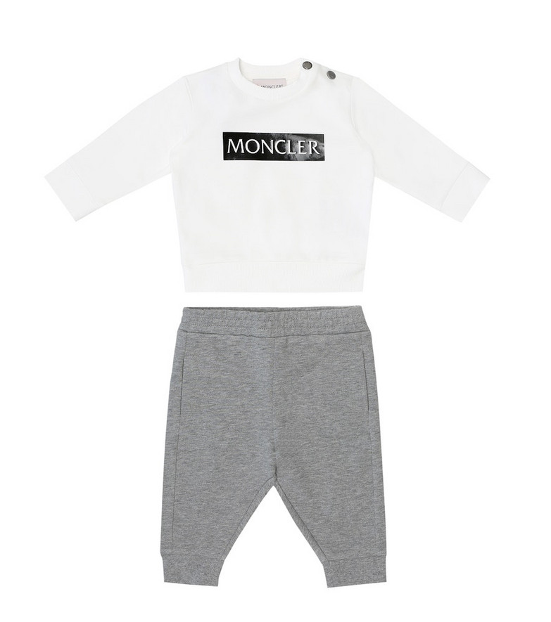 Moncler Enfant Baby sweatshirt and trackpants set in grey