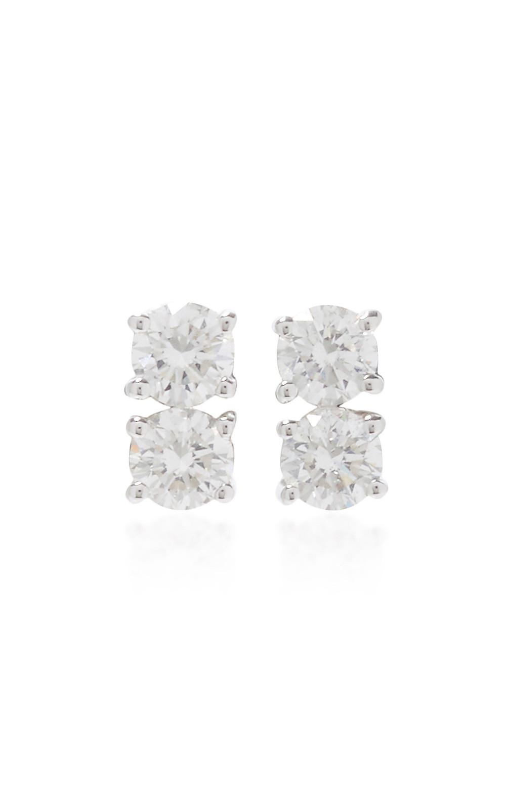 Anita Ko Two Dots Earrings in silver