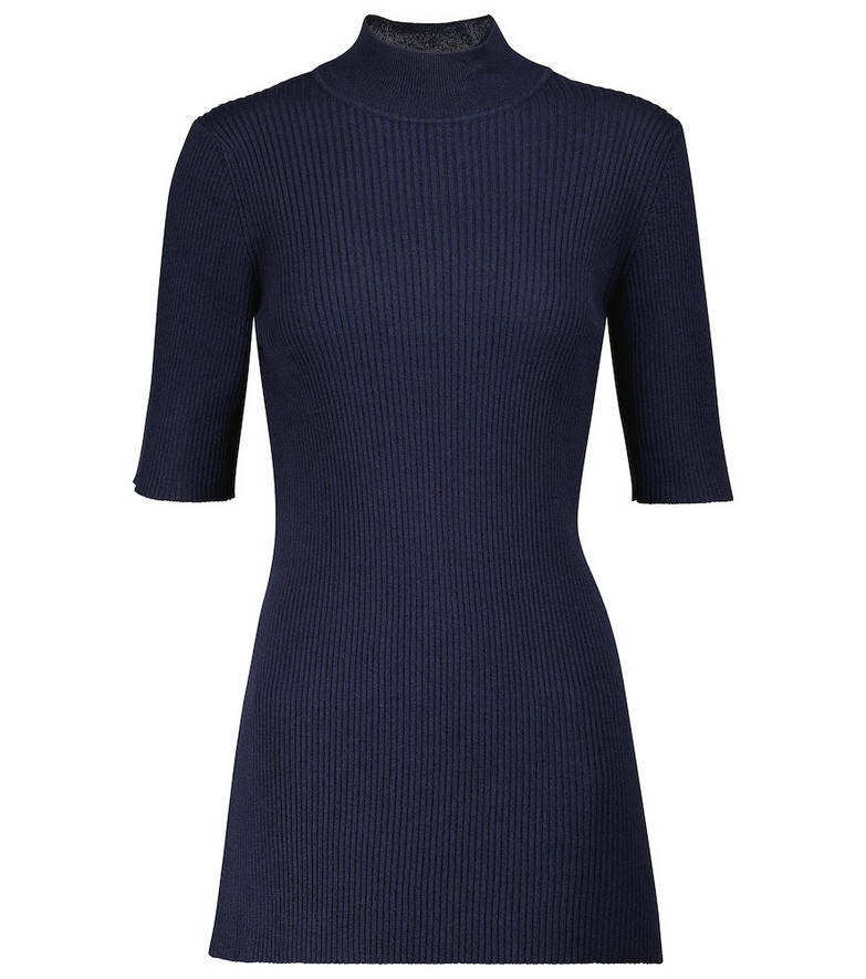 The Row Cassiopea silk-blend top in blue