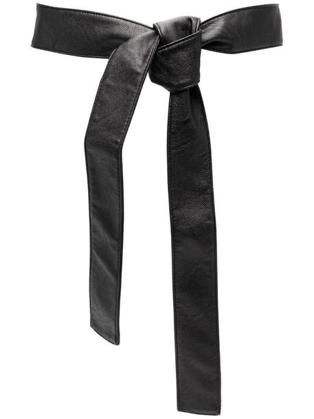 Philosophy Di Lorenzo Serafini tie-fastening belt in black