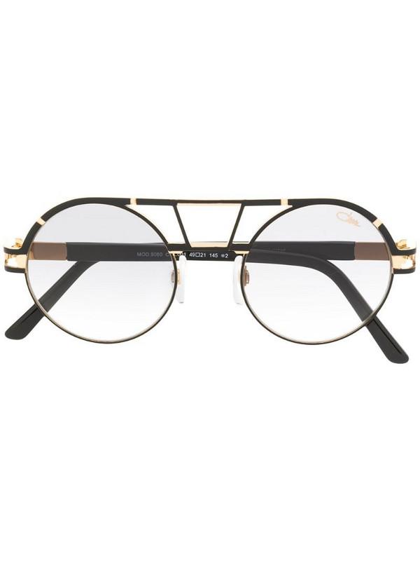 Cazal round aviator sunglasses in black