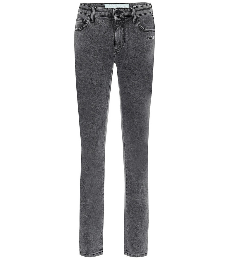 Off-White Mid-rise skinny jeans in black