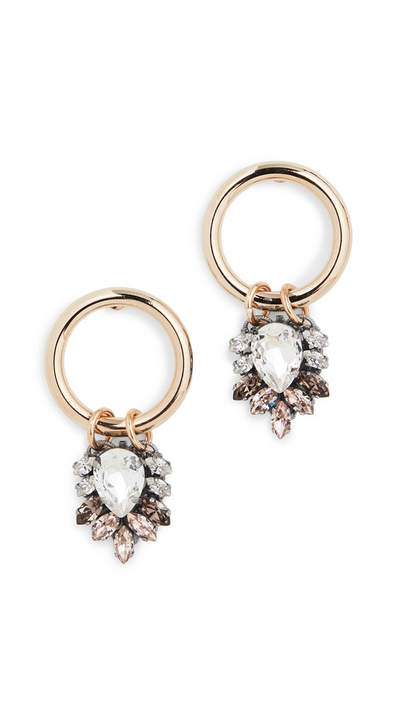 Anton Heunis Earrings with Cluster Pendant in gold