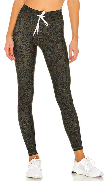 THE UPSIDE Army Leopard Yoga Pant in Green