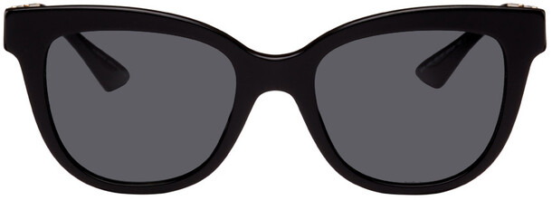 Versace Black Greca Cat-Eye Sunglasses