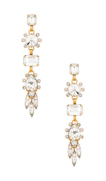 Elizabeth Cole Lilian Earrings in Metallic Gold