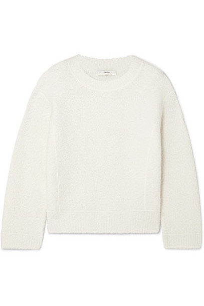 Vince - Wool-blend Bouclé Sweater - Off-white