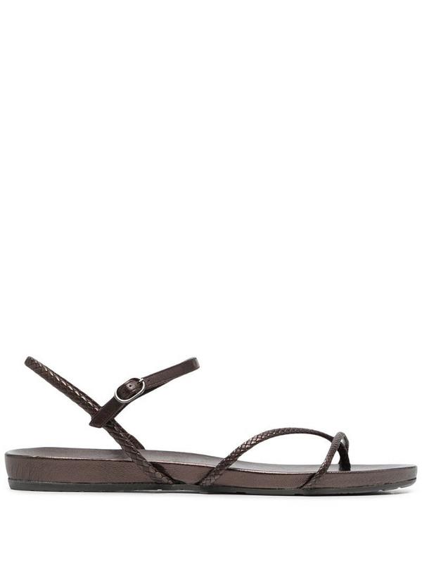 Pedro Garcia braided strap sandals in brown