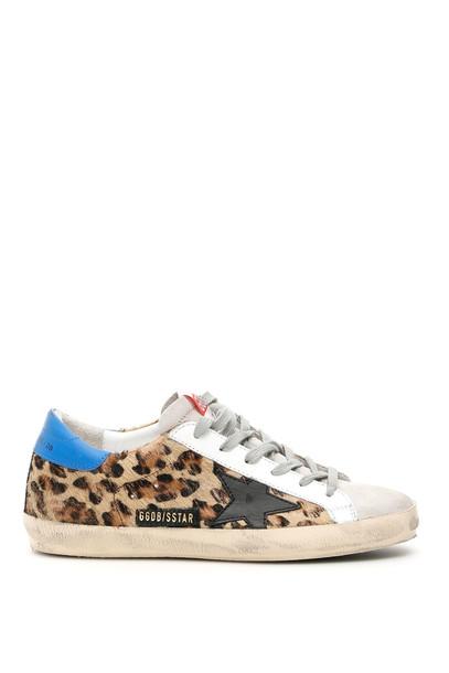 Golden Goose Leopard-printed Superstar Sneakers