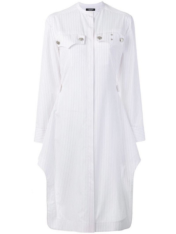 Calvin Klein 205W39nyc pinstripe shirt dress in white