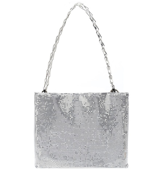 Paco Rabanne Pixel 1969 mesh shoulder bag in silver