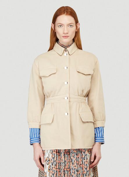 Prada Peplum Jacket in Beige size IT - 40