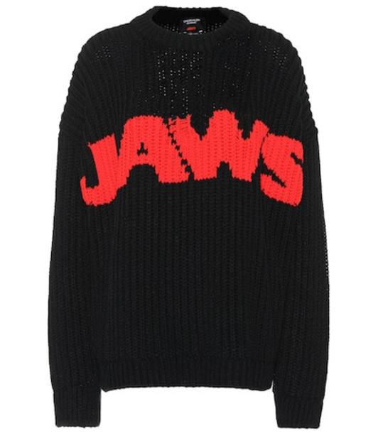 Calvin Klein 205W39NYC Intarsia sweater in black