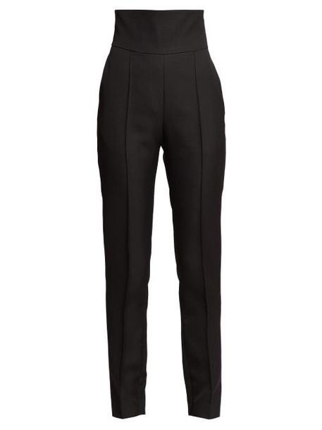 Alexandre Vauthier - High Rise Slim Leg Twill Trousers - Womens - Black