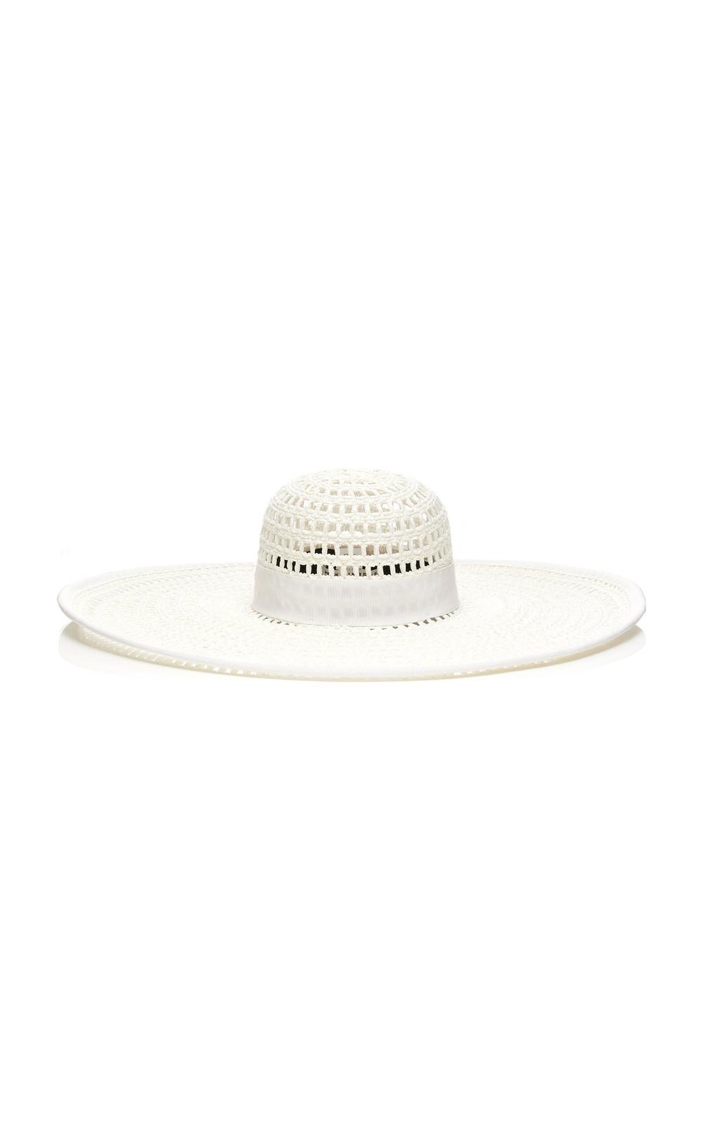Eugenia Kim Exclusive Wide-Brimmed Straw Sun Hat in white