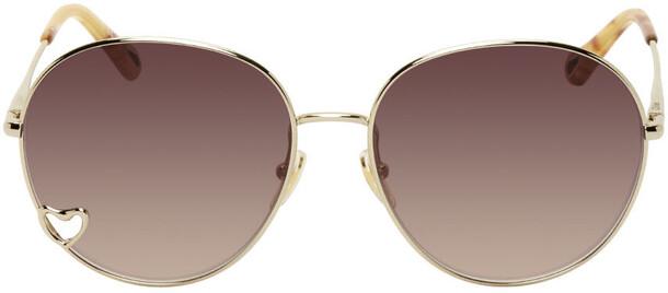 Chloé Chloé Gold & Brown Aimée Sunglasses