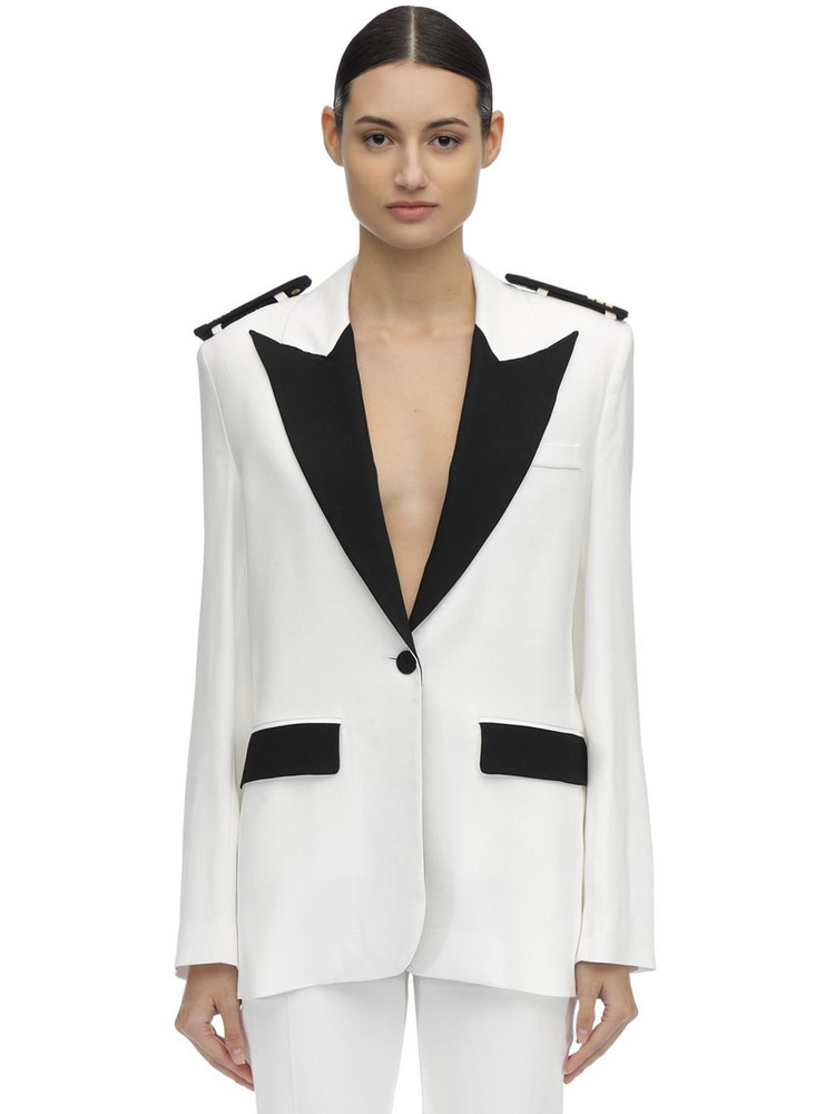 FILLES A PAPA Marines Tailored Jacket in black / white
