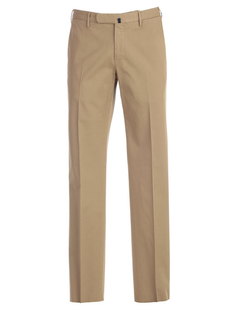 Incotex Straight Leg Suit Trousers in beige / beige
