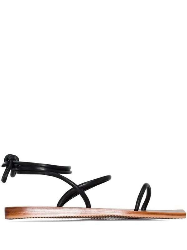 St. Agni Asami wrapped sandals in black