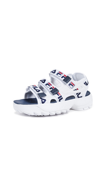 Fila Disruptor Sandals in navy / red / white
