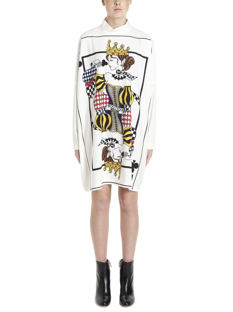 Boutique Moschino cards Dress in white