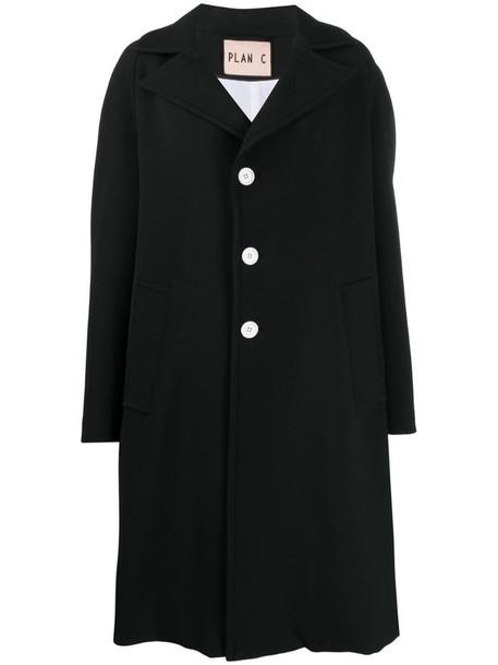 Plan C oversized robe coat in black