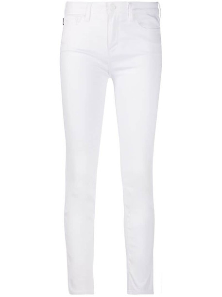 Love Moschino embroidered logo skinny jeans in white